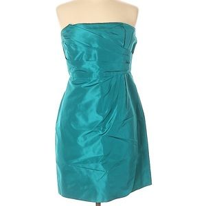 J.Crew Silk Dress Cocktail Mini A Line Strapless